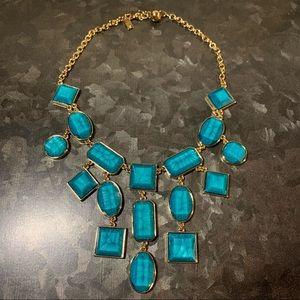 Kate Spade Sardinian Sun Bib Necklace - Turquoise